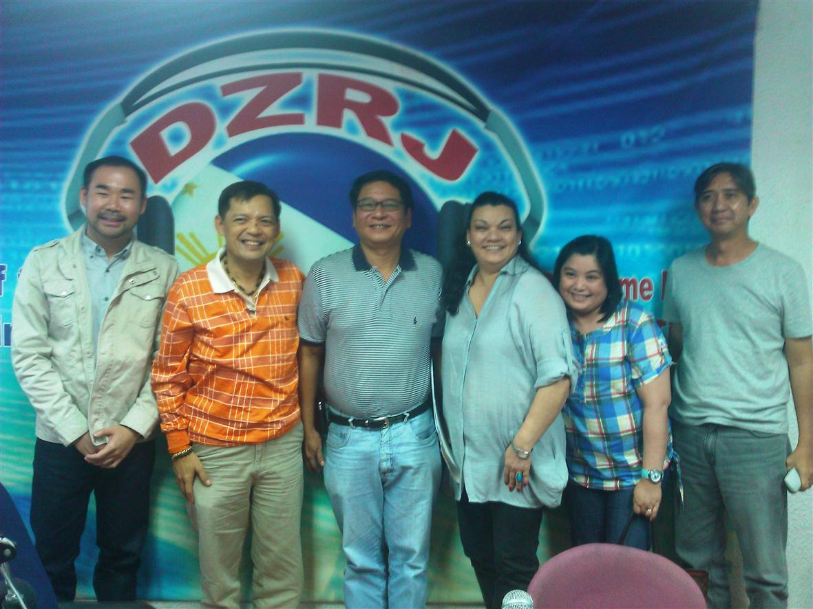 Guest speaker at DZRJ with Barbie Atienza and Maggie Munoz