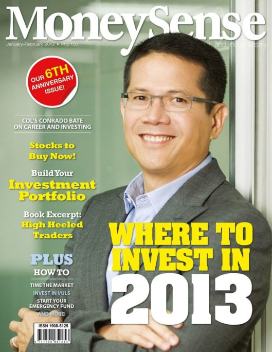 #3 Money Sense Jan 2013Front  Cover