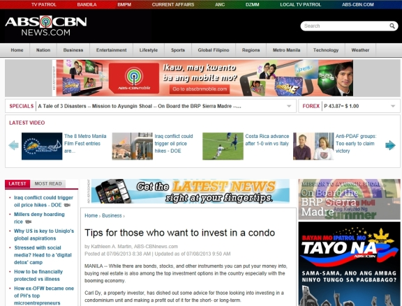 ABS CBN Tips for Condo Buyers Carl Dy