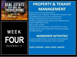 4 Week Workshop with Carl Dy Week Four