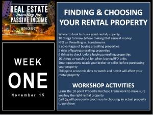4 Week Workshop with Carl Dy Week One2