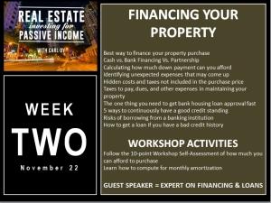 4 Week Workshop with Carl Dy Week Two