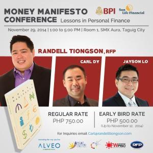 2014 Nov Money Manifesto with Randell