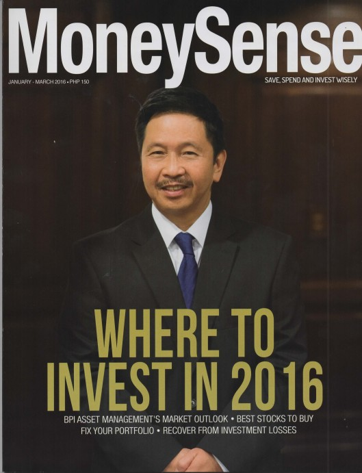 MoneySense January 2016 Cover